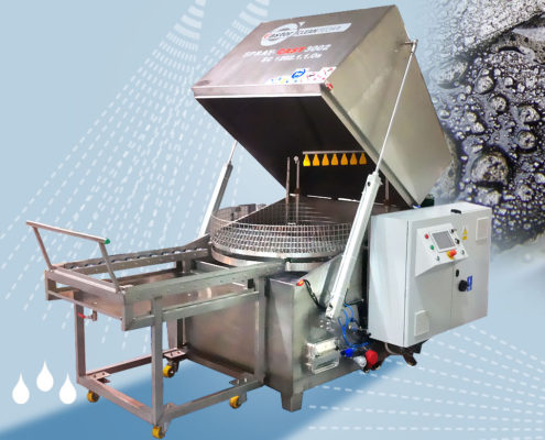 Top loading washing stands