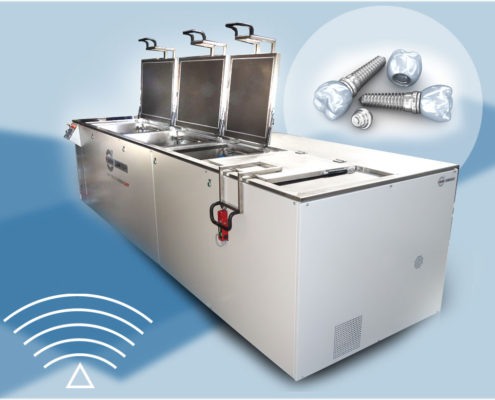 ultrasonic-spray washers