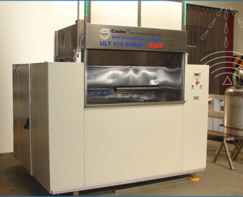 Ultrasonic and spraying washing machines