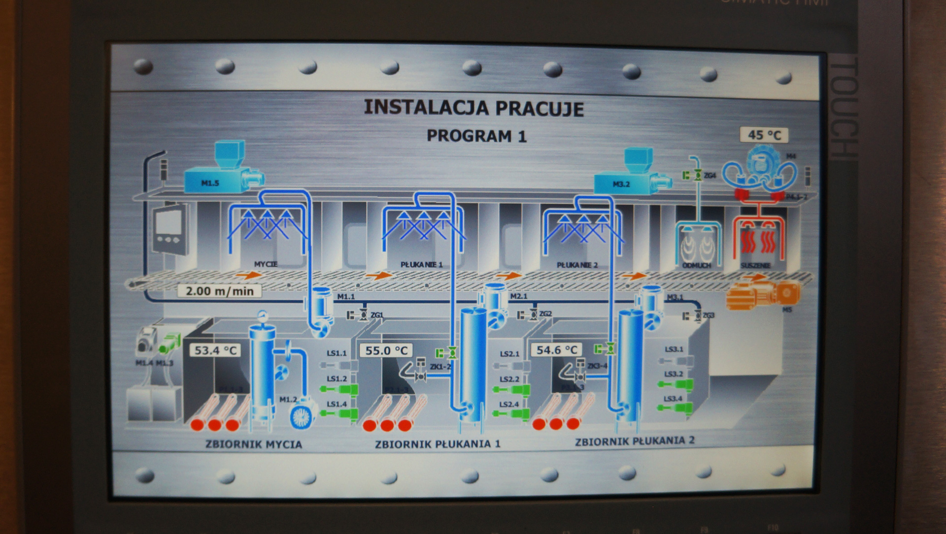 Programmable Controller Washing Process